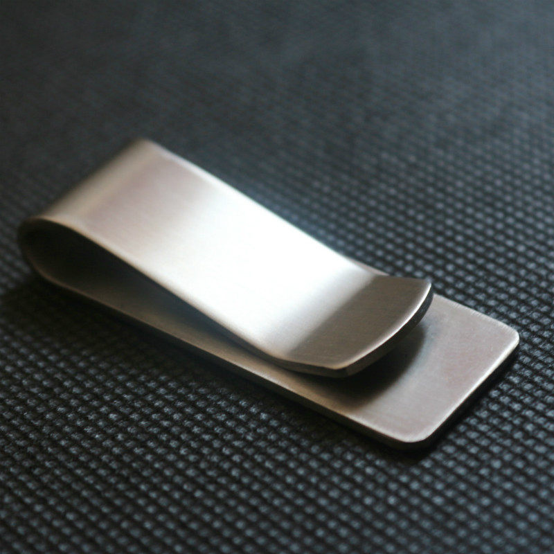 2018 Stainless Steel Slim Pocket Men Design Money Clip Wallet Cash ID Credit Card Business Dollar Holder Metal Bill Clamp !