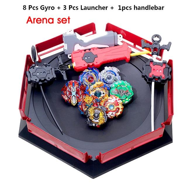 Takara Tomy All Tops Set Launchers Gt God Bey Bay Burst High Performance Battling Top Toys for Kids Blade Blades Arena