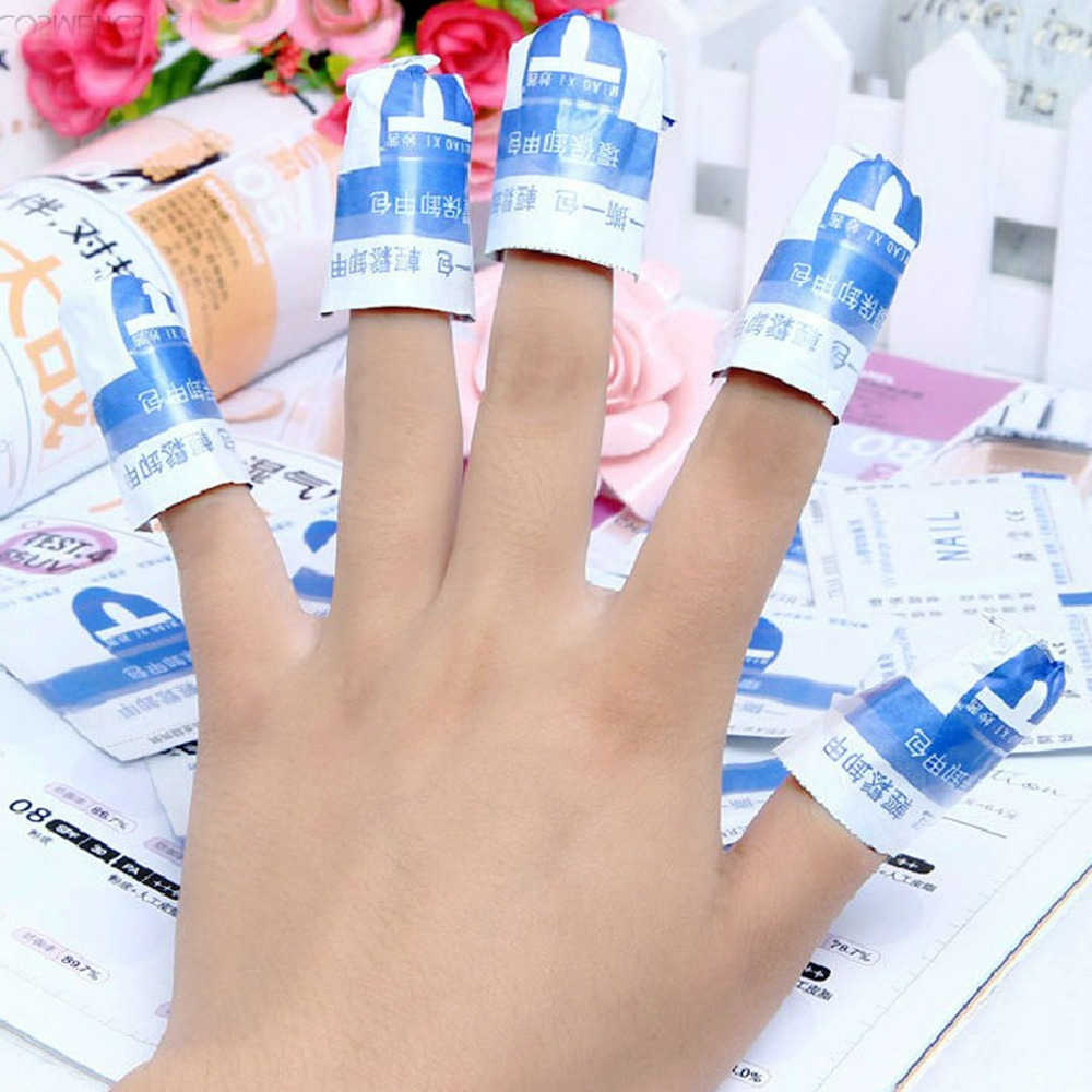 100pcs Pack Nail Foil Removal Wraps With Cotton Soak Off Acrylic Gel Polish Easy