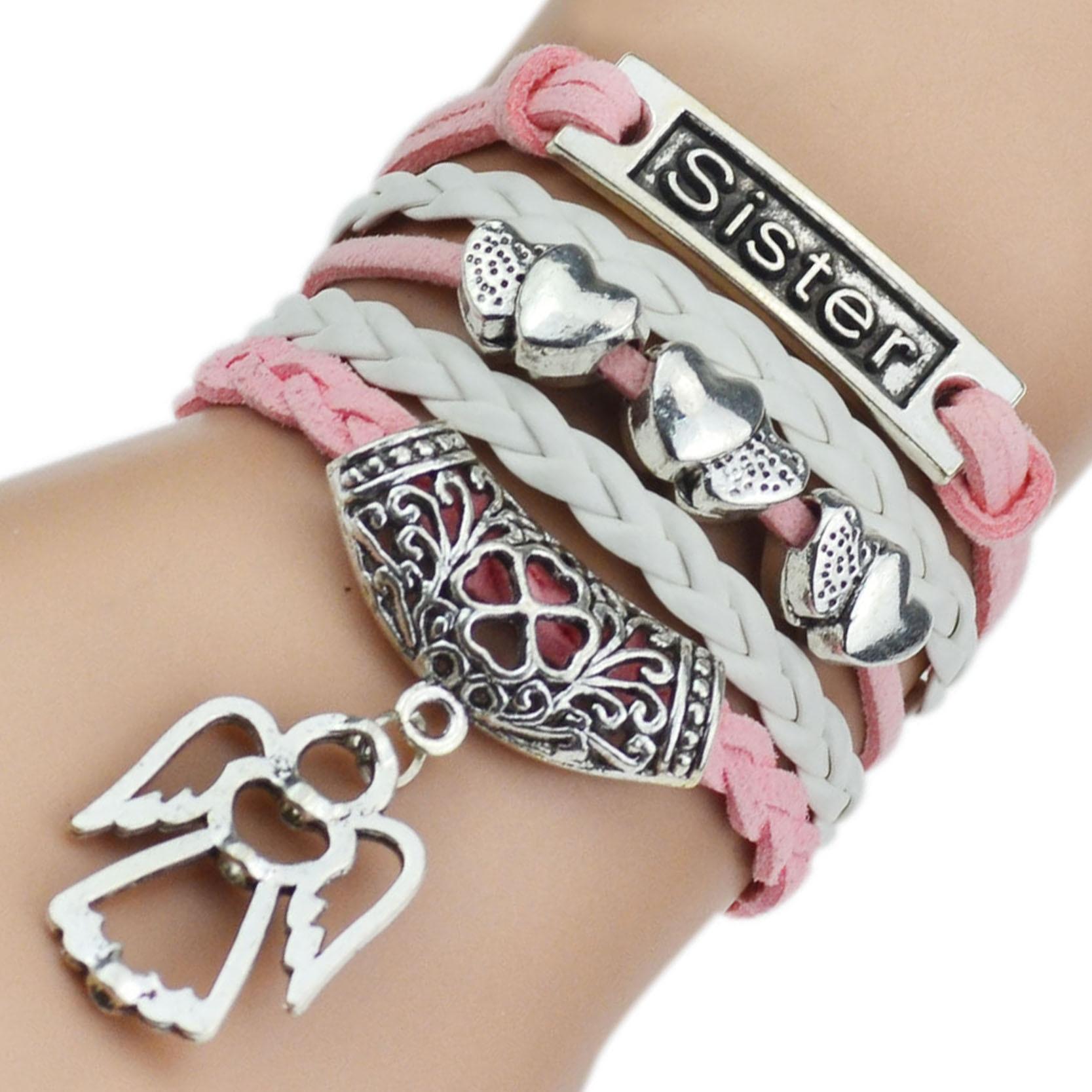 7 Colors 2017 New Fashion Leather Bracelets & Bangles Silver Owl Tree Love Bracelets for Women Men Hot Sale Fashion Jewelry 2