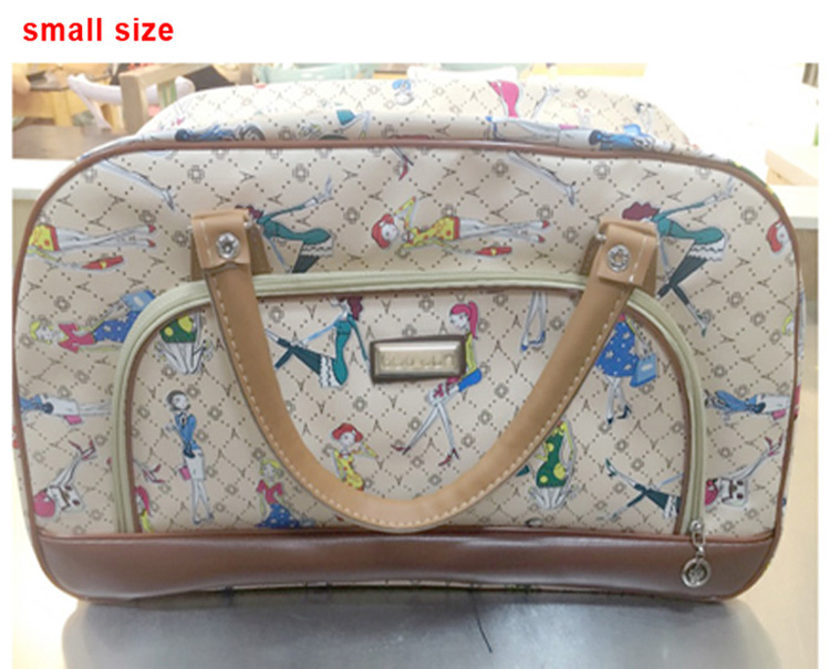 5b3246270567 Dropwow Women Travel Bags 2018 Fashion Pu Leather Large Capacity ...