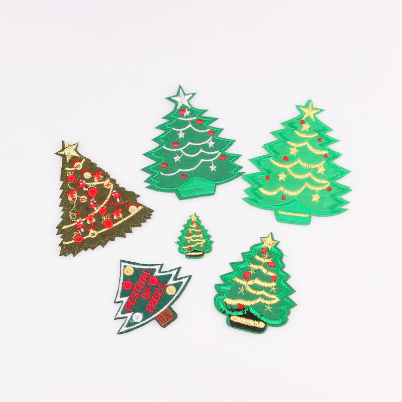 Christmas Tree Patch: 1Pcs Fashion Christmas Tree Patch For Clothing Iron On