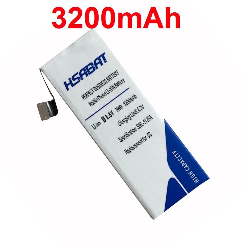 imágenes para HSABAT Nueva Alta Capacidad 3200 mAh Batería Del Teléfono Móvil para el iphone de Apple 5S Batería iPhone5S iPhone5c iPhone 5c Batería
