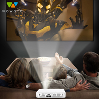 WOWOTO Projector hight Resolution Full HD 1080P projectors Android 7.1 Manual focus Portable Projector for Home 3D Cinema A5