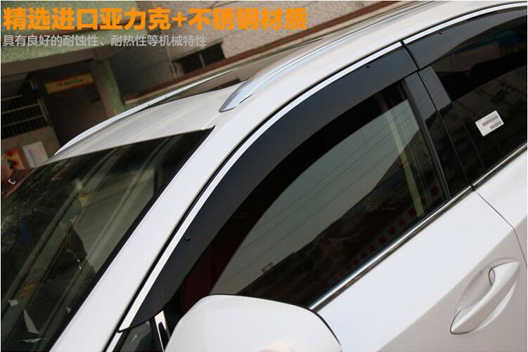 Car Window Visor Shades Fit For Lexus NX200 200T 300h NX200 NX200T NX300h Sun Rain Deflector Guard Awnings Car Styling Accessory 4pcs set door window switch lift cover botton panel trim car styling for lexus nx200t nx300h decorate car covers accessories