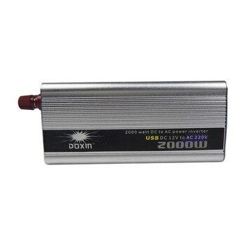 2000W  Modified sine wave Car Inverter 12v to 220v 50Hz Auto Inverter Cigarette Lighter Plug Power Converter with USB
