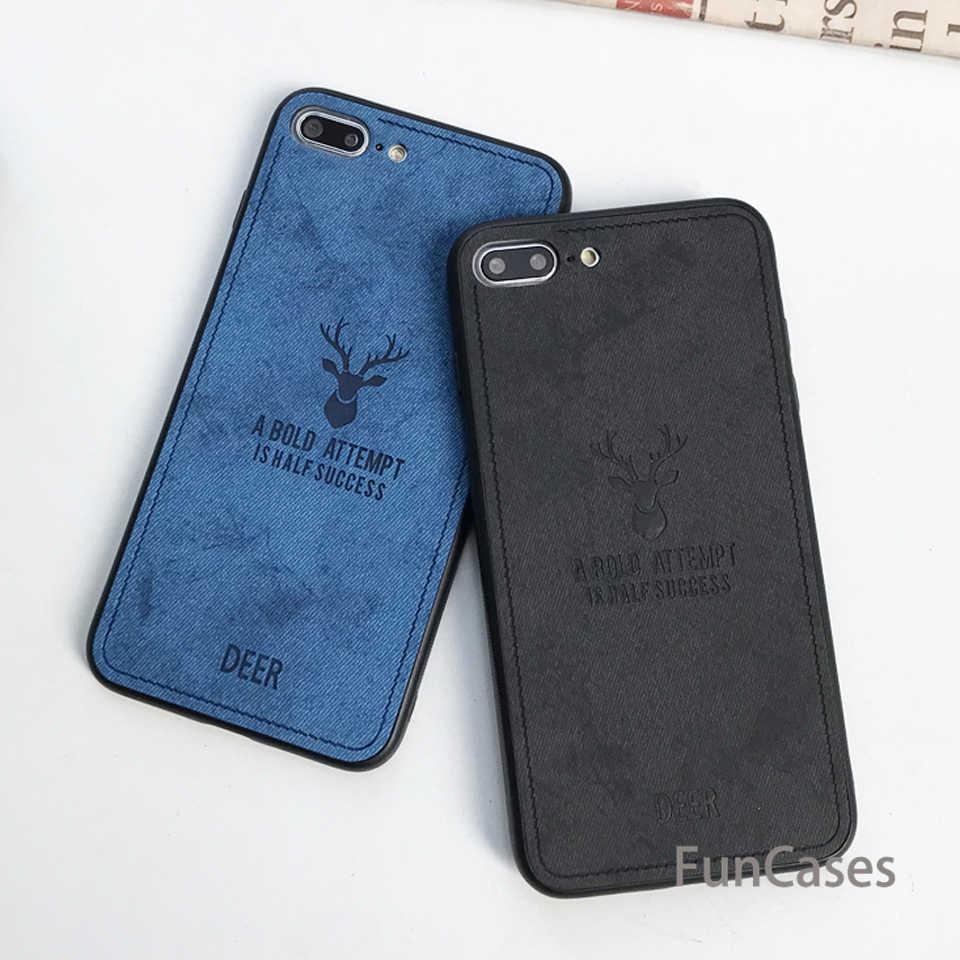 Ткань Винтаж Олень чехол для iPhone 7 Plus XS MAX XR X SE 5 5S 6 6s 8 крышка XiaoMi 8 SE A2 Lite A1 RedMi 6A 5A Примечание 4X