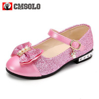 CMSOLO Children Princess Shoes New 2017 Girls Sequins Wedding Party Kids Baby Enfants Hot Shoes For
