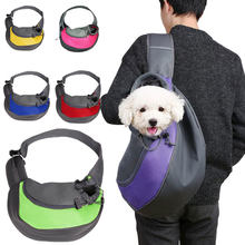 Pet Puppy Carrier Outdoor Travel Handbag Pouch Mesh Oxford Single Shoulder Bag Sling Mesh Comfort Travel Tote Shoulder Bag(China)