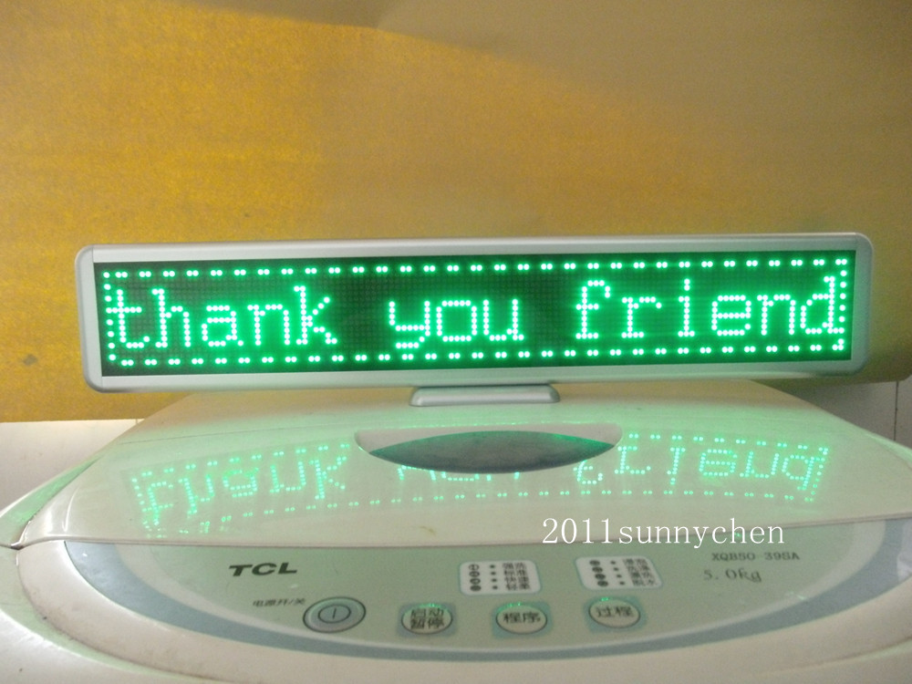 Green Programmable LED Moving Scrolling Message Display Sign Board 21x4Green Programmable LED Moving Scrolling Message Display Sign Board 21x4
