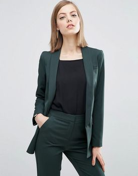 Dark Green Pant Suits Women Casual Office Business Suits Formal Work Wear Sets Uniform Styles Elegant Pant Suits W31