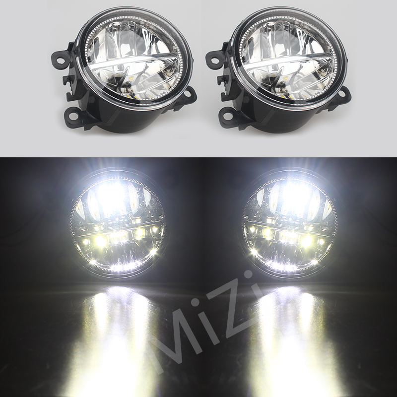 LED Fog Lights For NISSAN X-Trail T31 Closed Off-Road Vehicle 2007-2014 Car styling DRL LED Daytime Running Lamps 1SET jgrt 2011 for nissan sentra fog lights led drl turnsignal lights car styling led daytime running lights led fog lamps