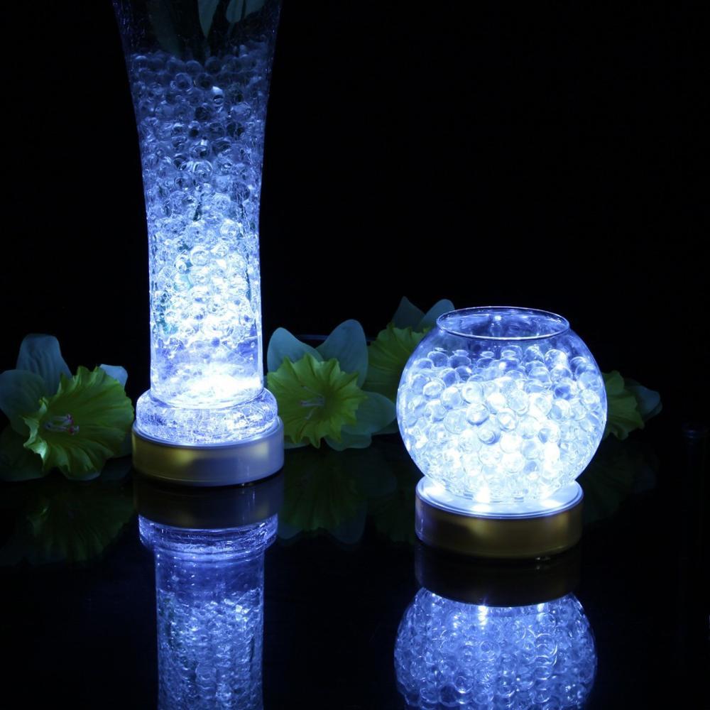 1 Piece/lot Round  LED White Warm White Color, Glass Vase Base Light, Centerpiece & Ice Sculpture