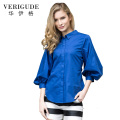Veri Gude Women's Vintage Style Lantern Sleeve Blouse Cotton Fashion Shirt