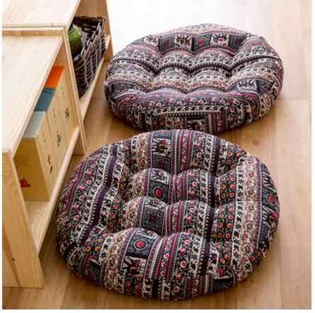 Японский Круглый/квадратный хлопок ткань подушки сиденья pad японский балкон татами сиденья yoga подушка коврик