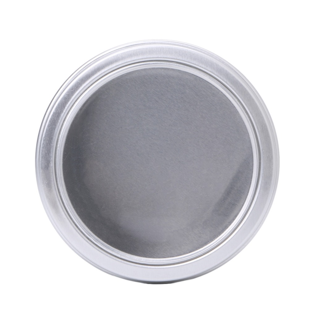 Empty Aluminium Cosmetic Pots Container Jar Tins Clear Top View Window 100ml in Refillable Bottles from Beauty Health