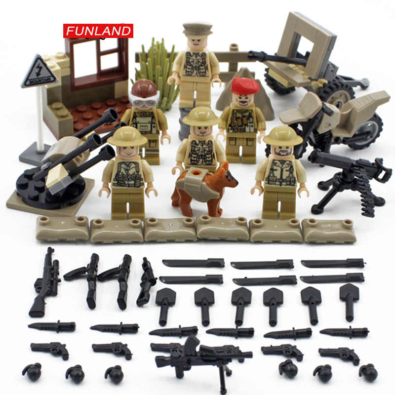 World war Battle of Imphal brickmania military minifigs building block ww2 army figures motorcycle weapon artillery bricks toys
