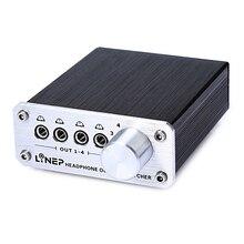 дешево!  4 входа 4 выхода 3 5 мм стереофонический аудио сигнал Переключатель для наушников Лучший!