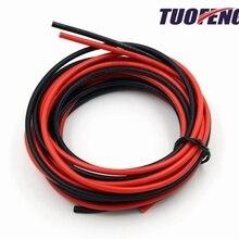 14 AWG силиконовый провод Hook Up Провода кабели черный и красный гибкий луженый медный провод высокая термостойкость