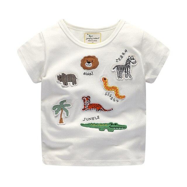 d06195989988 Baby Boy Gilrs T Shirt Cute Cartoon Animals Embroidered Short Sleeve ...