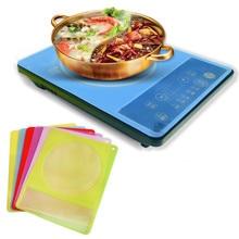 Полезный прозрачный силиконовый коврик для еды, силиконовая индукционная плита, защита от воды, аксессуары kichen, водонепроницаемая крышка для еды