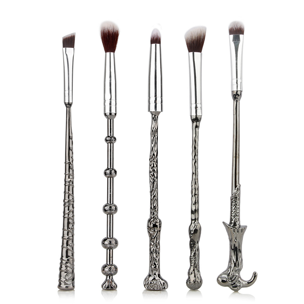 5 PCS Harry Makeup Brush Sets Magic Wand Eye Shadow Brush Beauty Comestic Potter Brush Tools makeup sponge 5 pcs