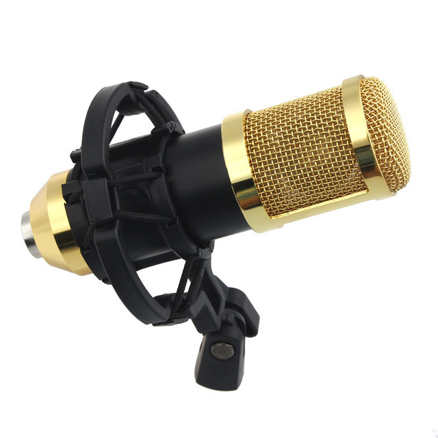 Hot Sale Wired Microphone New Sound Studio Dynamic Mic Shock Mount BM800 Condenser Microfone for Recording Kit KTV Karaoke Dec6