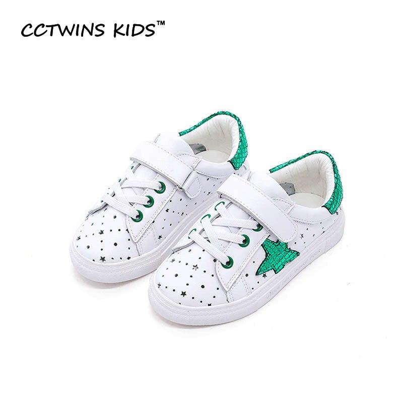CCTWINS KIDS 2017 Spring Genuine Leather Kid Girl Brand Trainer Baby Boy Sport Shoe Children Fashion