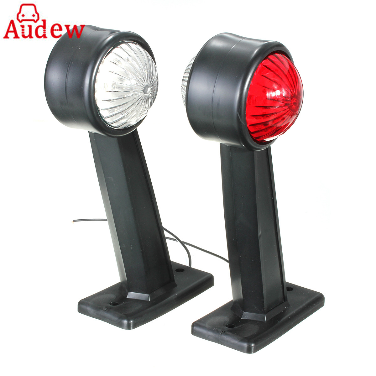 12/24V 12LED Side Marker Lights Lamp Tail Warning Lihgt Double Color White&Red For Car Trailer Truck Lordy car suv truck 12led side emergency