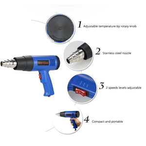 Image 5 - 1800W Air Gun Heat Gun Hot Air Gun For Soldering Hair Dryer Building Hot Air Nozzle For Construction Hair Dryer Industrial Tools
