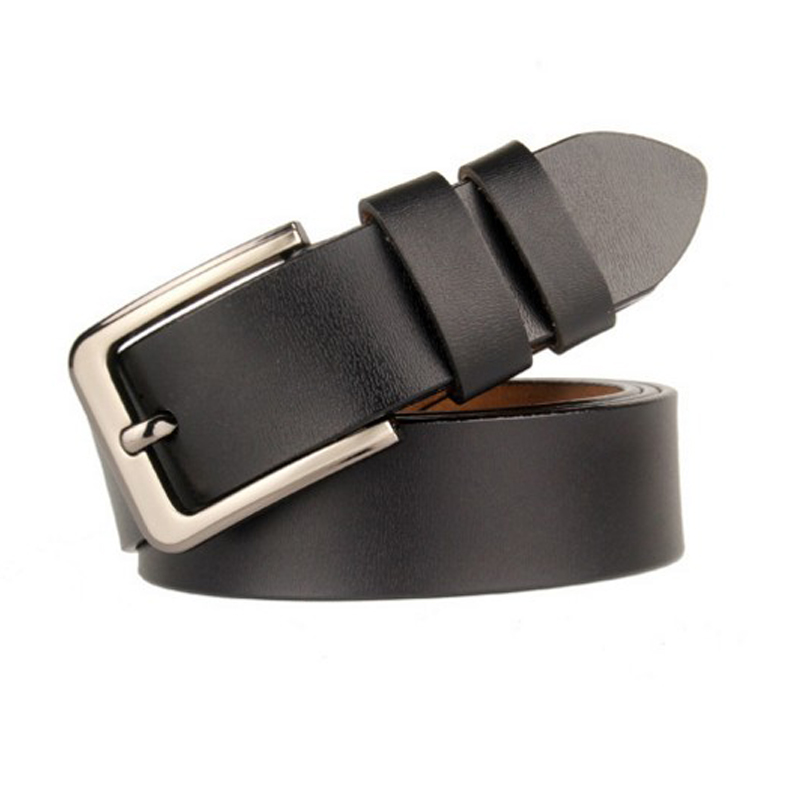 160cm belt mens pure color belts 2 layer cowhide belt men Black and coffee