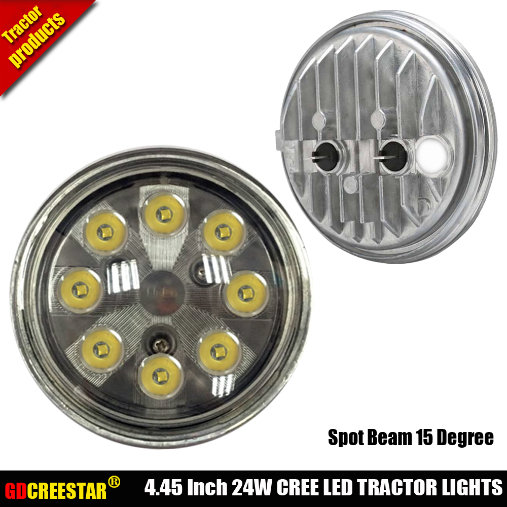 Heavy Duty sealed beam 12V 24V Spot / Flood / Trapezoid / high low beam led work lights 24W PAR36 led tractor lamps x1pc