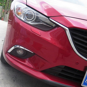Image 4 - Fit For Atenza M6 GJ CHROME 2013 2014 2015 2016 Front Fog Light Lamp Cover Eyebrow Eyelid Garnish Streamers Outer Foglight trim