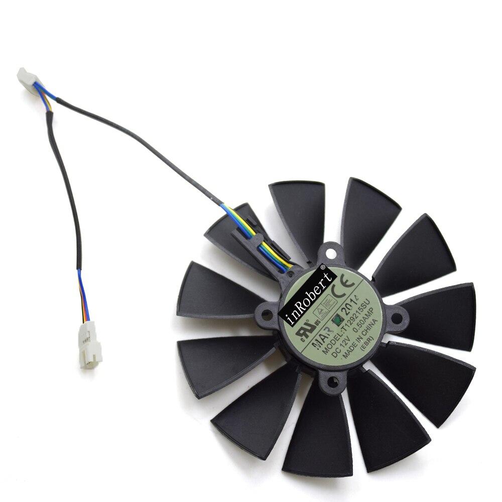 95mm T129215SU GTX 970 ventilador enfriador reemplazo para ASUS GTX 970 GTX 780 TI R9 380 R9 380 X r9 390 390X RX 570 tarjeta gráfica