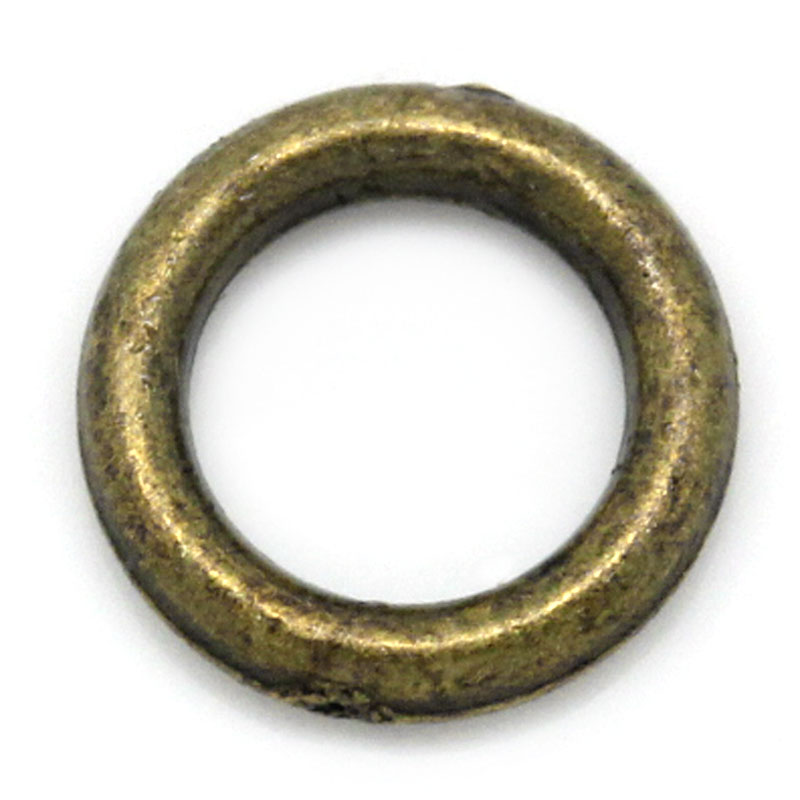 DoreenBeads Zinc Metal Alloy Closed Soldered Jump Rings Round Antique Bronze 6mm( 2/8