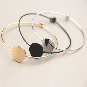 Acme contracted metal wafer bracelet The new popular contracted design copper qualitative geometric circular female bracelet bracelet