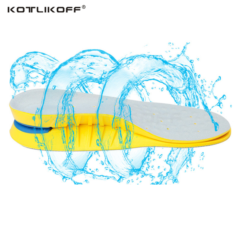 KOTLIKOFF PU Sport Insoles Sweat Absorption Pads Running Sport Shoe Inserts Breathable Insoles Foot Care Expert Men And Women