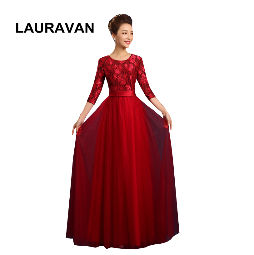 Dark Red Lace Formale Teen Long Tulle Bridesmaid Pageant Dresses For Women New Arrival Dress Burgundy Red Free Shipping