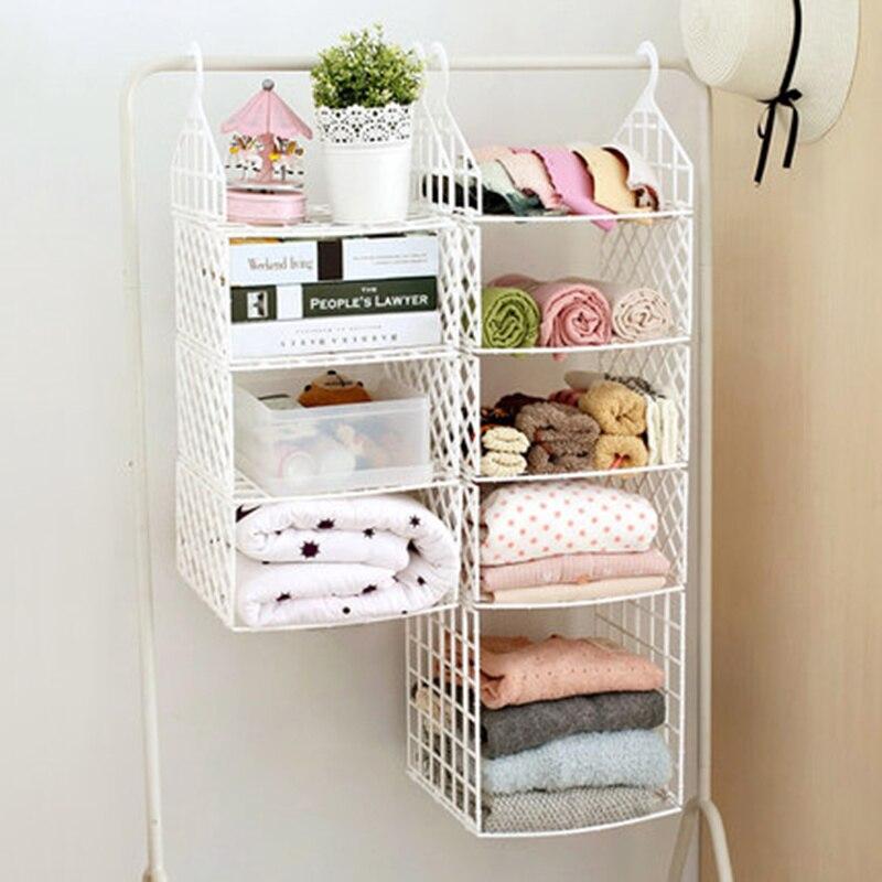 Multifunction Plastic Foldable Storage Shelves Hanging Closet Holder Wardrobe Clothes Underwear Rack In Holders Racks From