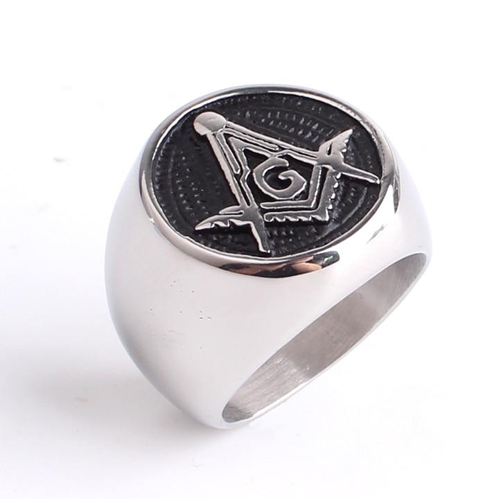 безплатна доставка Доминиращ масонски пръстен леене Пънк готик свободен Мейсън 316l пръстени от неръждаема стомана за мъже на едро