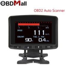 OBD2 термометр цифровые часы DC12V Автомобильные Часы светодиодный A208 автоматический двойной датчик температуры вольтметр тестер напряжения
