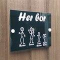 (Her Bor) норвежская прозрачная Arcylic и черная задняя панель дверная доска Персонализированная палка семейный дом Дверной знак новый дизайн