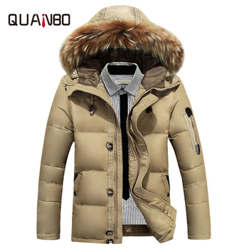 New Warm Winter Jacket Men -30 Cold resistant Degree Snow Duck Down Jacket  Hooded Fur Collar Windproof Outerwear Men Down Coats