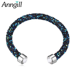 ANNGILL Full Crystal Bracelets & Bangles Friendship Cuff Bracelets For Women Crystals From Swarovski Wedding Party Jewelry Gift