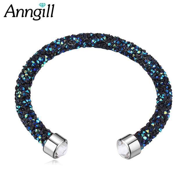 Hot Crystals From Swarovski Bracelets Friendship Cuff Bracelets For Women Wedding Party Jewelry Gift