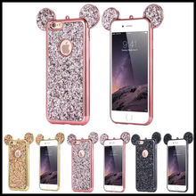Glitter Bling Cute Mickey Ear Case TPU Protective Cover For iPhone XS Samsung S8
