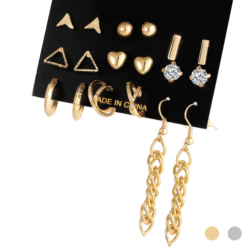 2017-christmas-gift-gold-color-colorful-crystal-heart-bead-simple-punk-stud-earrings-set-for-woman-1