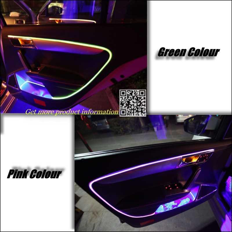 Lumières optiques intérieures de bande de Fiber d'atmosphère de réglage de lumière ambiante pour Fiat Bravo/Ritmo 2007 ~ 2015 Refit d'illumination de panneau de porte