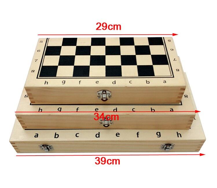Jeu d'échecs en bois massif