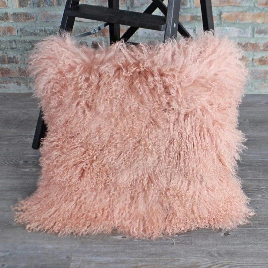 light pink mongolian fur pillow cover fur cushion cover decorative pillows for sofa home pillowcase almofadasin cushion cover from home u0026 garden on